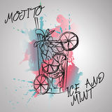 Mojito mint and ice Royalty Free Stock Photos