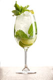 Mojito with mint, lime and ice Stock Photos