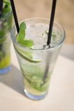 Mojito mohito mint drink freshness cocktail on beach Royalty Free Stock Photography