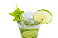 Mojito op wit Stock Foto's
