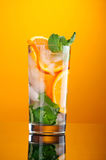 Mojito orange cocktail. Royalty Free Stock Photography