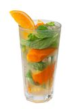 Mojito orange cocktail. closeup Royalty Free Stock Image