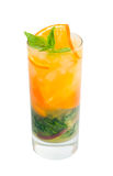 Mojito orange cocktail.isolated Royalty Free Stock Image