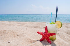 Mojito and red star Stock Images
