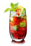 Mojito rouge avec la fraise Images libres de droits