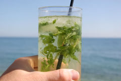Mojito by the sea Royalty Free Stock Photography