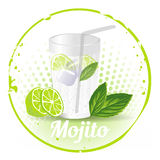 Mojito Stamp Background Royalty Free Stock Photos