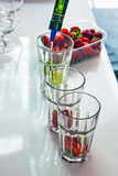 Mojito with strawberries Stock Image