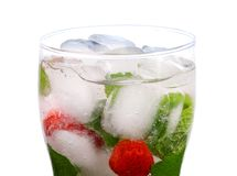 Mojito  strawberries  cocktail. Royalty Free Stock Images
