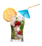 Mojito  strawberries  cocktail Stock Photography