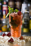 Mojito strawberry cocktail Royalty Free Stock Images