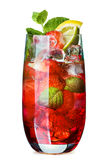 Mojito with strawberry Stock Images