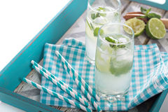 Mojito in tall glasses Royalty Free Stock Photography