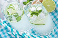 Mojito in tall glasses Royalty Free Stock Images