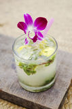 Mojito tropical cocktail drink Royalty Free Stock Image