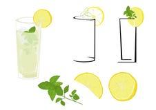 Mojito van de cocktail Stock Afbeeldingen