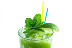 Mojito on a white background Stock Images