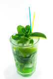 Mojito on a white background Royalty Free Stock Photography
