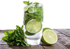 Mojito on wood against white Stock Images