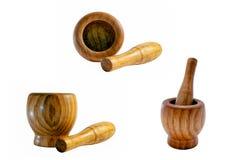 Mojito wooden mortar set Royalty Free Stock Image