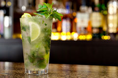 Mojitococktail stock fotografie