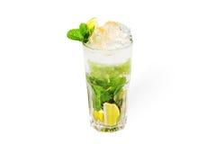Mojitococktail met ijs Stock Fotografie