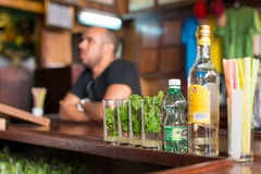 Mojitos at La Bodeguita del Medio in Havana Stock Photos