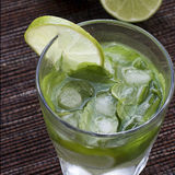 Mojitos with mint leaves, lime and ice Stock Images