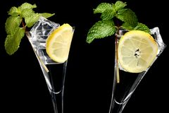 Mojitos Over Black Royalty Free Stock Photo