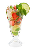 Mojitos strawberry cocktail Royalty Free Stock Image