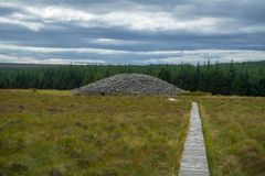 Mojones de piedra escoceses del clava de la casa fotografía de archivo