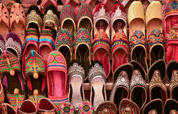 Mojris in shoe shop Stock Image