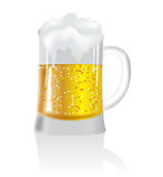 De mok van het bier Stock Foto's