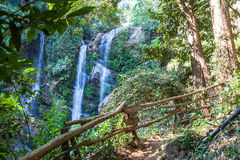 Mok Fa waterfall in Chiang Mai, Thailand. Royalty Free Stock Images