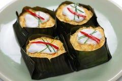 Mok Hor, тайская еда стоковое изображение rf