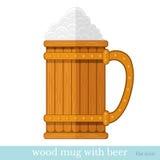 Mok met bier en schuim Royalty-vrije Stock Afbeelding