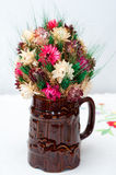 Mok met bloem Stock Fotografie
