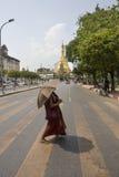 Monk sule pagoda Stock Photos