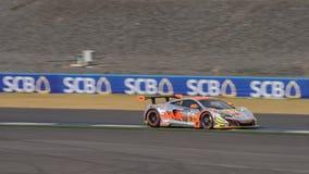 Mok Weng Sun av Clearwater Racing i den asiatLe Mans serien - lopp Arkivbild