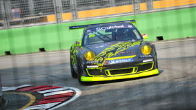 MOK Weng Sun racing at Porsche Carrera Cup Asia Royalty Free Stock Images