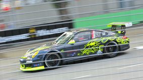 Mok Weng Sun racing at Porsche Carrera Cup Asia Stock Photo