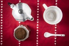 被拆卸的咖啡moka 免版税库存图片