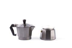 Moka coffee pot. Metal italian espresso maker Stock Photography