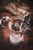 Moka espresso pot Royalty Free Stock Photo