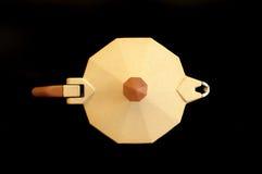 Moka italien de café - vue de ci-avant photos libres de droits