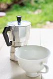 Moka Pot coffee Royalty Free Stock Photography