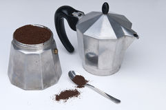 A moka. In the table royalty free stock photography