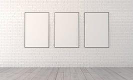 Mokap mit drei Malereien stock abbildung