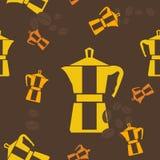Mokapot Coffee Maker Seamless Pattern. Editable Mokapot Coffee Maker Vector Illustration Seamless Pattern Royalty Free Stock Photos
