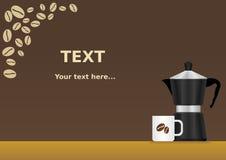 Mokapot kawy tło Zdjęcia Royalty Free